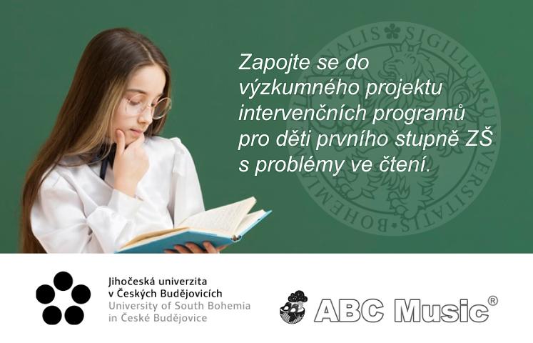 Zapojte se do výzkumného projektu intervenčních programů pro děti prvního stupně ZŠ s problémy ve čtení.